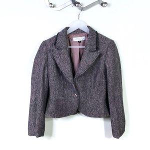 Tahari Arthur S. Levine Pink Grey Tweed Blazer 4P